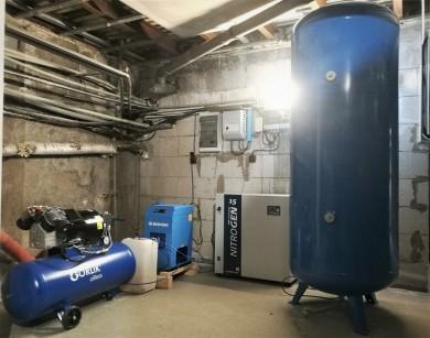 Dodávka a montáž zařízení na výrobu a úpravu dusíku pro výrobu a balení mléčných výrobků